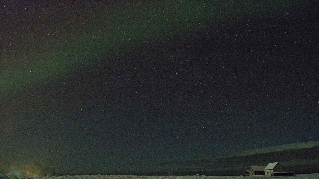 That first sliver of Aurora.
