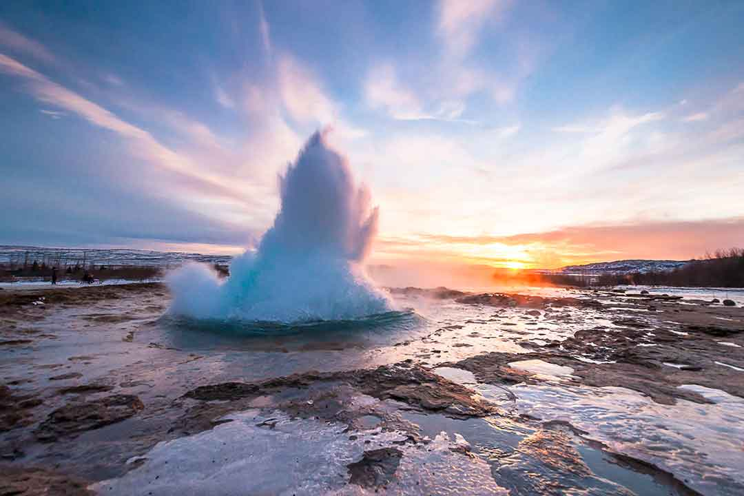 South Coast & Glacier Super Jeep Tour Iceland Geysir