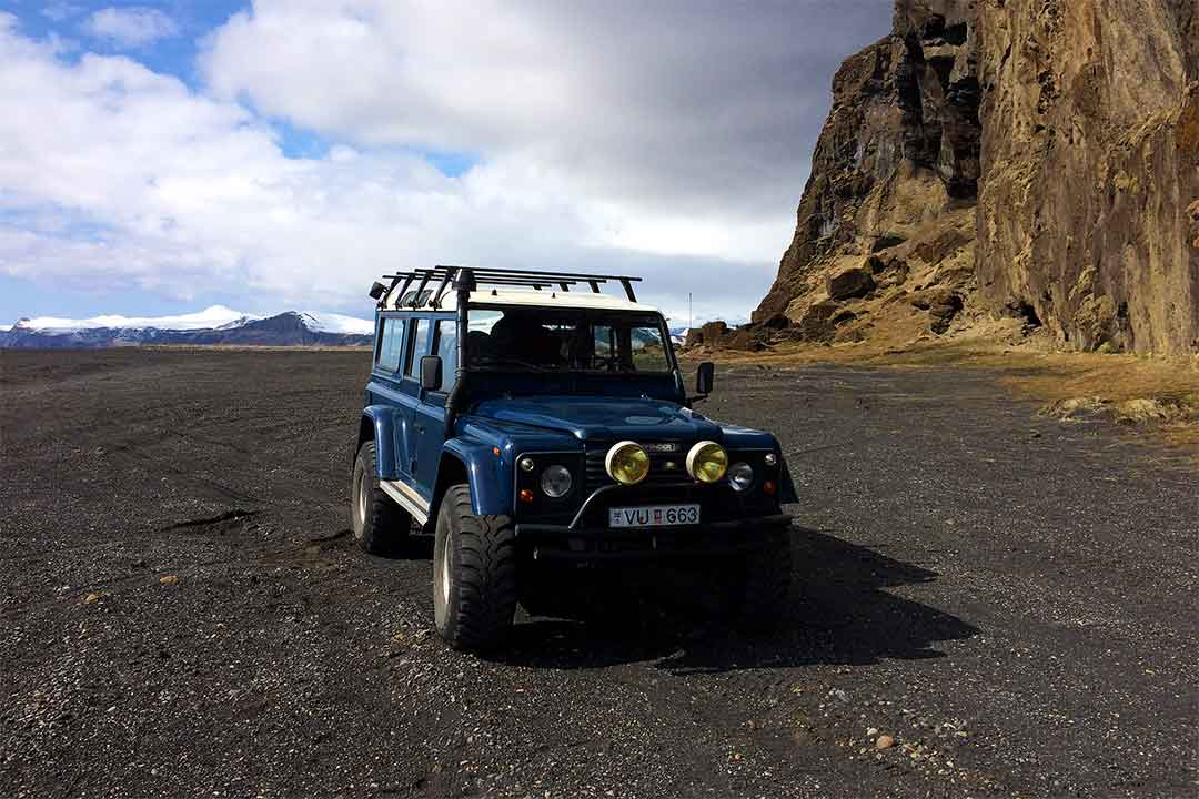 South Coast & Glacier Super Jeep Tour Iceland Land Rover Defender