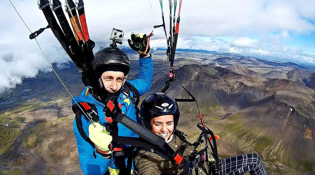 Svifvængjaflug, Paragliding í Reykjavík, Ísland