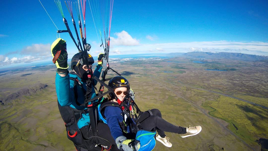Svifvængjaflug Reykjavík Ísland útsýni