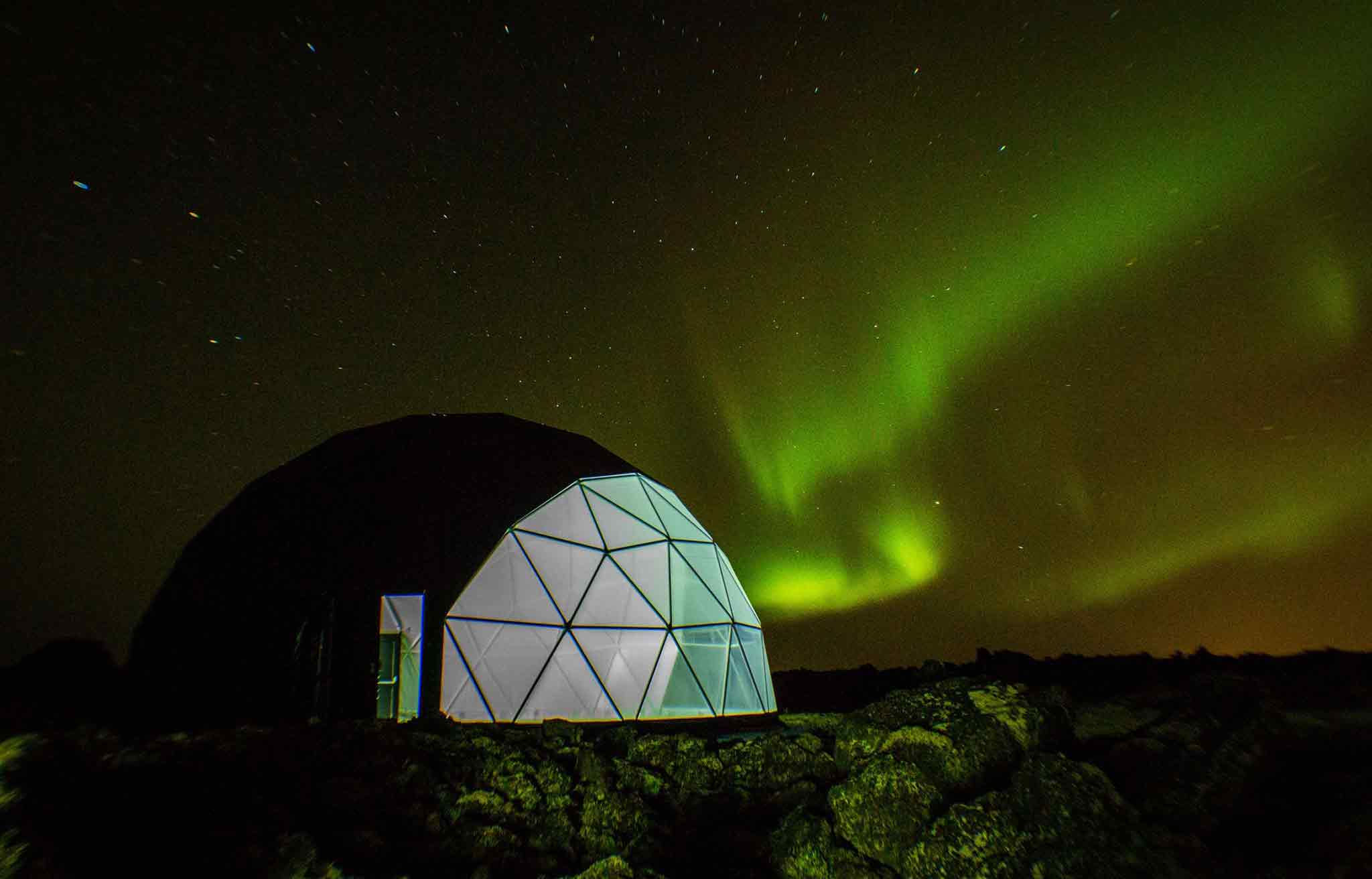 Northern Lights Guaranteed Iceland. Aurora Basecamp Northern Lights Observatory Tour.