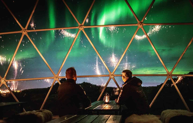 Northern Lights Guaranteed Iceland. Aurora Basecamp Northern Lights Observatory Tour.